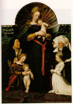 Ганс Гольбейн Младший. Дева с младенцем и семья бургомистра