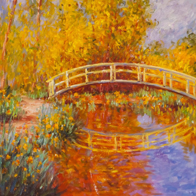 "Savely Kamsky. ""A copy of the painting"" The Japanese Bridge (Bridge in the Monet's Garden) "", 1895-1896"