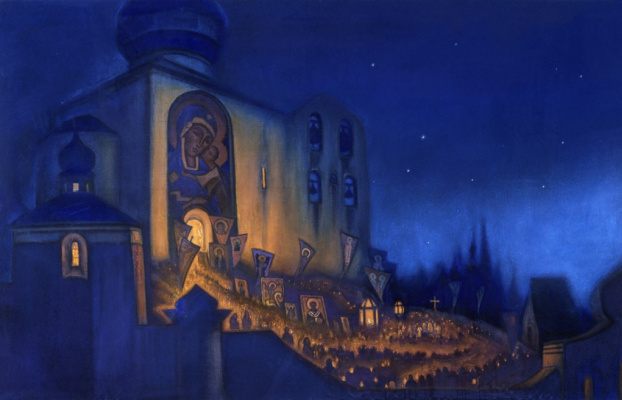 Nicholas Roerich. Russian Easter (a Procession)