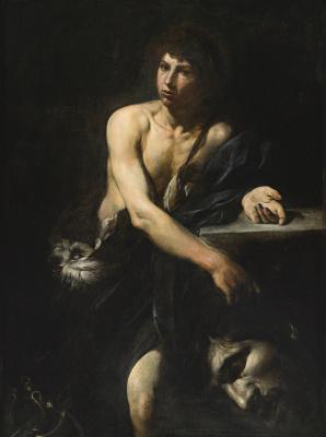 Valentin de Boulogne. David with the head of Goliath