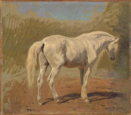Белая лошадь. Эскиз