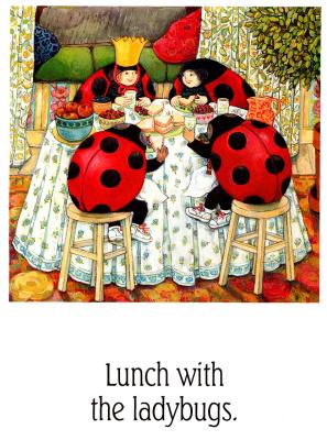Анита Лобель. Обед с божьими коровками