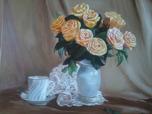 Вадим Маслов. Натюрморт с розами