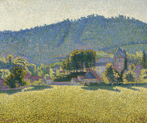 Paul Signac France 1863 - 1935. Comble le Chateau. The Valley (Opus 163). 1887