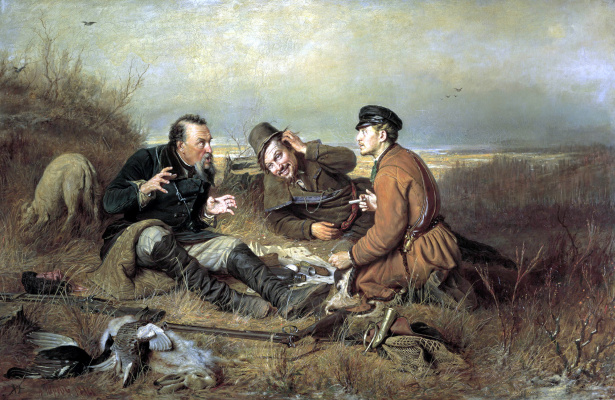 Vasily Grigorievich Perov. The hunters at rest