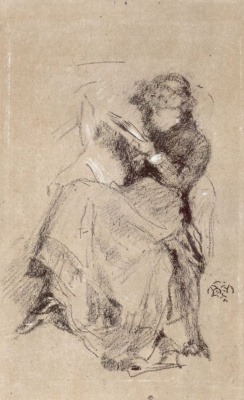 James Abbot McNeill Whistler. Reading girl
