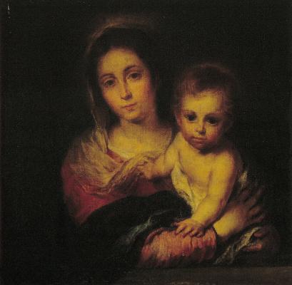Bartolomé Esteban Murillo. Madonna with a napkin