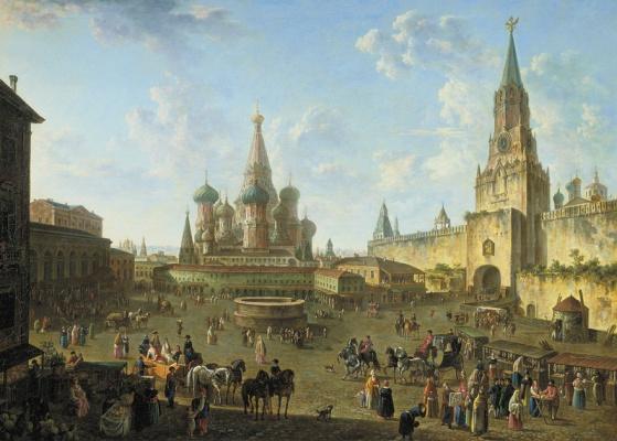 Вид Красной площади с собором Василия Блаженного