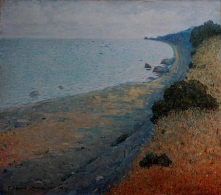 "Eugene Alexandrovich Urvantsev. ""Evening at sea"""