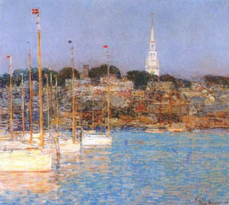 Childe Hassam. Boats, Newport
