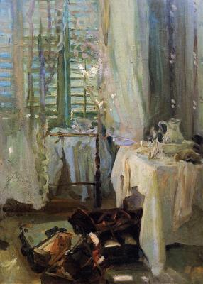 John Singer Sargent. Hotel room