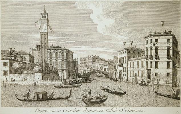 Antonio Vizentini. View of the Church of San Jeremiah