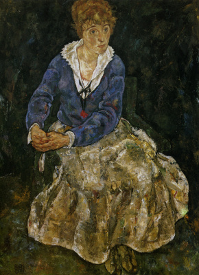 Egon Schiele. Portrait of Edith Schiele, the artist's wife