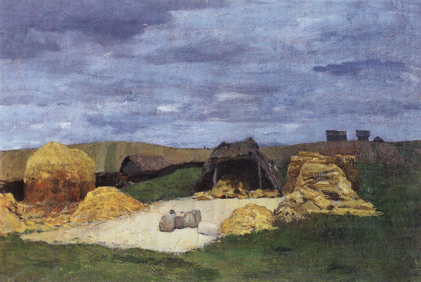 Isaac Levitan. Current. The barn