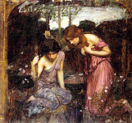 John William Waterhouse. Nymphs find the head of Orpheus. Sketch