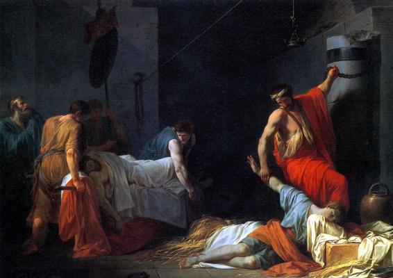 Жан-Франсуа-Пьер Пейрон. Погребение Мильтиада