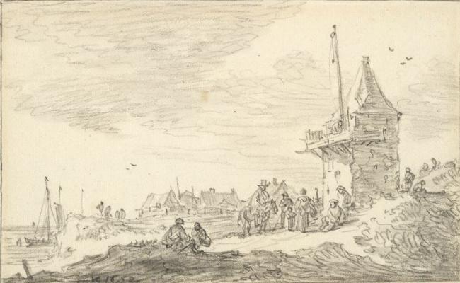 Jan van Goyen. On the sea shore