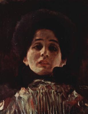 Gustav Klimt. Woman portrait face