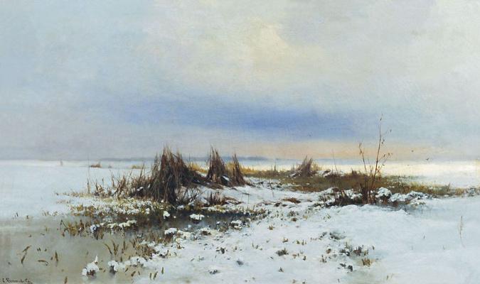 Сергей Иванович Светославский. Зимний пейзаж