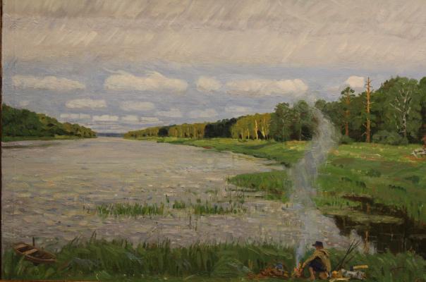 Eugene Alexandrovich Kazantsev. Rainy summer on the Klyazma.