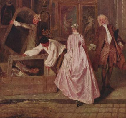 Antoine Watteau. Sign shop Gers. Fragment
