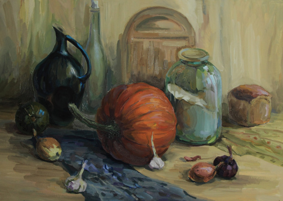 Svetlana Holodnyak. Still Life with Pumpkin