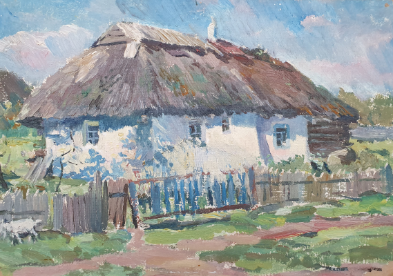 David Pilko. Hut in the Poltava region