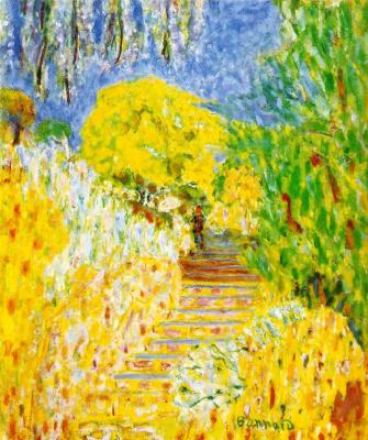 Pierre Bonnard. Stairs in the garden