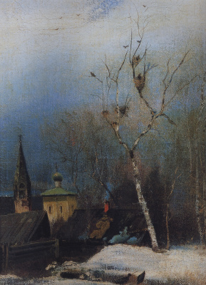 "Alexey The Kondratyevich Savrasov. Early spring. Variant-repetition of the painting ""Rooks have arrived"""