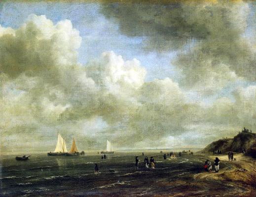 Jakob van Isaacs Ruisdael. Seaside