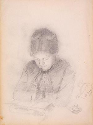 Пол Пил. Портрет жены художника