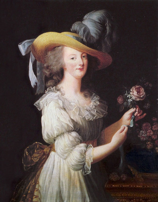 Elizabeth Vigee Le Brun. Portrait of Marie Antoinette in muslin dress