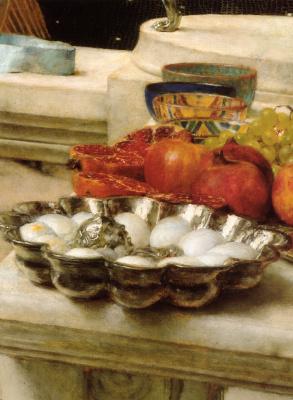 Лоуренс Альма-Тадема. Приготовления в Колизее (фрагмент)