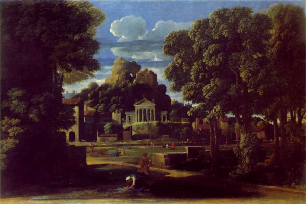 Nicola Poussin. The ashes of Fokina collected by his widow
