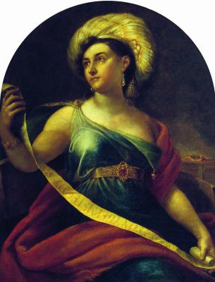 Orest Adamovich Kiprensky. Portrait NS Semenova as Sibyl Delphi