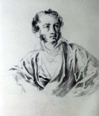 Vasily Andreevich Tropinin. Portrait Of A. S. Pushkin. Sketch