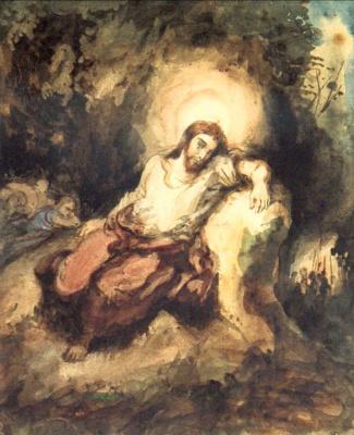 Эжен Делакруа. Христос на Масличной горе