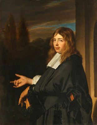 Franz van Miris the Elder. Portrait of a gentleman with a glove (maybe Greffer Gaspar of Pages)