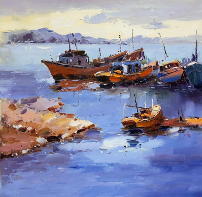 "(no name). ""Fishing schooners N2"", series ""Ships and the sea"""