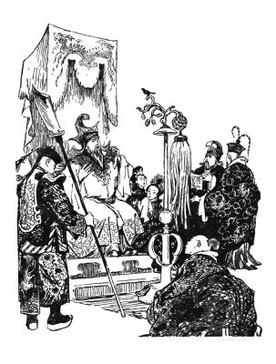"Нина Алексеевна Носкович (Лекаренко). Illustrations for the tale of H. H. Andersen ""The Nightingale"" II"