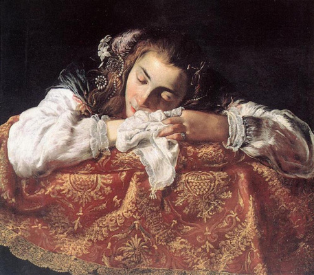 Доменико Фетти. Спящая девушка