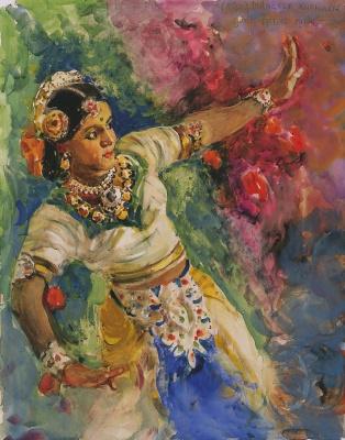 Alexander Mikhailovich Gerasimov. Bombay dancer