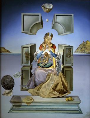 Сальвадор Дали 1904 - 1989 Испания. Мадонна Порт-Льигат (первая версия). 1949