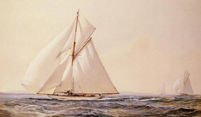 Монтегю Доусон. Соревнование яхт