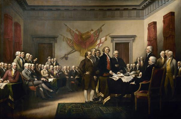 Джон Трамбулл. Подписание Декларации независимости