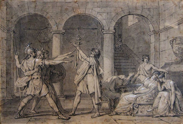 Jacques-Louis David. Oath Horatii. Sketch
