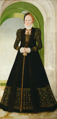 Lucas the Younger Cranach. Portrait Of Anna Danish
