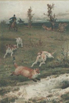 Алексей Данилович Кившенко. Охота на лисицу. 1882
