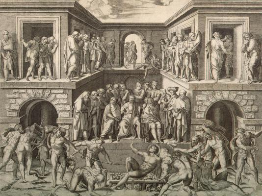 Маркантонио Венециано Агостино Раймонди. Мученичество Святого Лаврентия