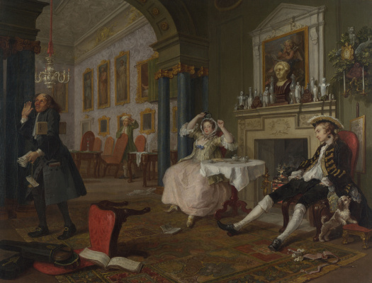 William Hogarth. A fashionable marriage. Part 2. After the wedding